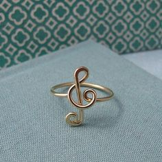 IN LOVEE! Treble Clef Ring in 14k gold filled by Laladesignstudio on Etsy