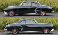 There are hotrods and resto-mods and then there are one-off unique customs like this custom 1950 Olds Rocket 88 Club Coupe. In my opinion, this awesome Olds is a very special combination of early, period correct hot rod performance. Classic Car Garage, Oldsmobile 88, Car Pictures, Car Pics, Weird Cars, Cars And Coffee, Classic Cars Online, Buick, Motor Car