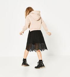 Hoodie with nice skirt