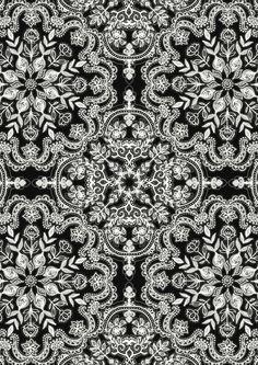 Black & White Folk Art Pattern Art Print by Micklyn | Society6