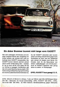 German, Advertising, Cars, Vehicles, Vintage Cars, Autos, Deutsch, German Language, Car