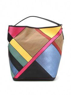 f3c0f1b9257 BURBERRY - Ashby multicolour hobo bag  Pradahandbags Burberry Purse