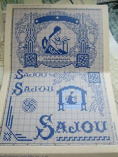 Sajou Red Cross Stitch Album 915-pins & knop door PenelopeTextiles