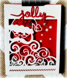 Shaker Card   Detailed Santa Thinlet   MakingMemorieswithMichelle.weebly.com   Stampin' Up! 2016