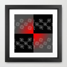 Color Block Bursts framed Art print by JensenMerrell Designs. Buy just the art print and then shipping is free worldwide thru this Sunday.