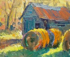 "Daily Paintworks - ""Sunny Barn"" - Original Fine Art for Sale - © Doug Gorrell"