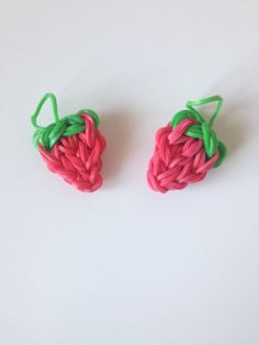 Rubber Band Kawaii Strawberry Rainbow Loom Charm by Highondiamonds, $3.00