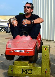 Gas Monkey Garage Richard, even acting like a child... he's still a huge slice of beef cake. Yummy!