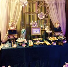 Dessert table designed by Glam a candy Buffets for the Signature CEO conference.