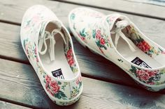 Im in love! What a beautiful, feminine version of these classics. Rose Keds