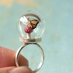 Tiny Woodland Terrarium Toadstool ring by WoodlandBelle