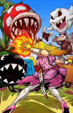 Sucker Punch Princess Peach by *BrianAtkins on deviantART