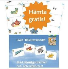 Ladda ned de fina ord- och bildkorten från Livet i Bokstavslandet kostnadsfritt! Livet i Bokstavslandets facebookgrupp har passerat 50... Educational Activities For Kids, Teaching Activities, Classroom Activities, Teacher Education, School Teacher, Teacher Resources, Learn Swedish, Swedish Language, Time Kids