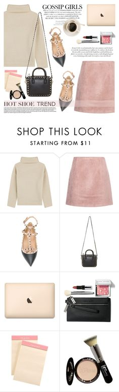 """""""So Stylish: Ankle Wrap Flats"""" by helenevlacho ❤ liked on Polyvore featuring Étoile Isabel Marant, Acne Studios, Valentino, Bobbi Brown Cosmetics, Aspinal of London, It Cosmetics, contestentry and anklewrapflats"""