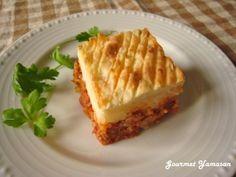 「コテージパイ(ポテトとミートソースのグラタン)」マッシュポテトとミートソースのグラタンでイギリスの家庭料理です。見栄えがするのでパーティにもおすすめ