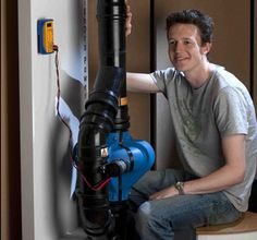 Industrial Design graduate Tom Broadbent has created this ingenious device that can harvest energy from falling waste water found in the pipes of high-rise buildings.