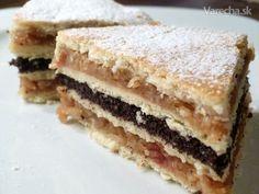 Fluden, makovo-jablčný koláč
