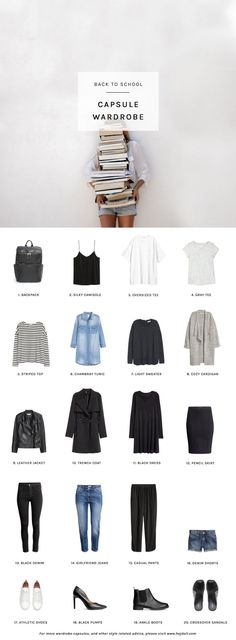 Casual capsule wardrobe for a student