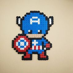 Captain America hama beads by marygoround_geek