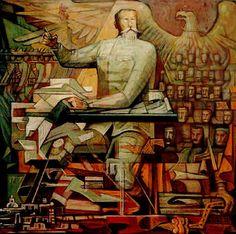 Proyecto para el mural de la Constitución de 1917  by Jorge González Camarena