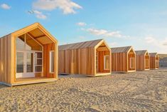 NEW dune houses Nieuwvliet - Beach Houses directly on the beach and sea. - NEW dune houses Nieuwvliet – Beach Houses directly on the beach and sea. Tiny Beach House, Tiny House Cabin, Beach Houses, Bungalow, Prefab Homes, Home And Deco, Play Houses, House Plans, Shed