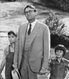 """Gregory Peck and Mary Badham in """"To Kill a Mockingbird"""" (1961)by Leo Fuchs"""