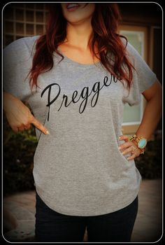 Great way to announce your pregnant! Preggers Prego Shirt Pregnant Mom To Be Womens by TheStickerPlace, $17.99