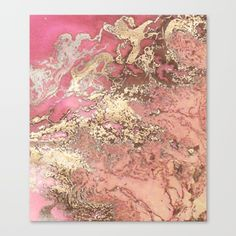 Rosegold water Canvas Print