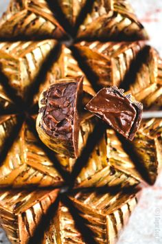 Salted Caramel Ganache Dark Chocolate. Bittersweet couverture molded and filled with a decadent salted caramel ganache.