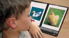 Cree un cuaderno de comunicación hablante con una imagen sonora con cartas de animales y sus sonidos.