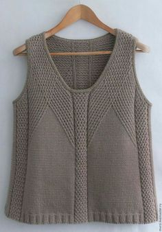 """""""Happiness"""", Norah Gaughan collection 4 (I believe photo from Ravelry) Summer Knitting, Free Knitting, Knit Fashion, Womens Fashion, Vest Pattern, Latest Street Fashion, Knit Vest, Madame, Knitting Designs"""
