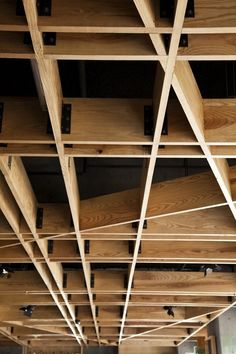 wooden ceiling . acoustic solution