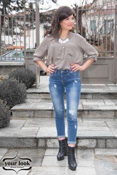 Shirt silk beige, YourLook Beige, Silk, Shirts, Tops, Women, Fashion, Moda, Women's, Fashion Styles