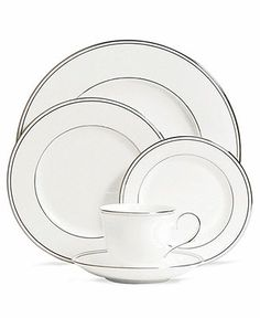Lenox Dinnerware, Federal Platinum Collection - Fine China - Dining & Entertaining - Macy's Bridal and Wedding Registry