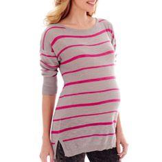 Neon Stripe Shirt Tail Tunic Shirt - JCPenney $24.99