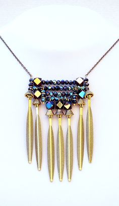 Necklace Black Cubes by Mimi Scholer