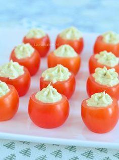 Pesto roomkaas tomaatjes - Laura's Bakery