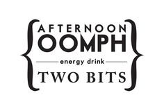 Two Bits energy drink logo by Leah Kirsten, via Behance
