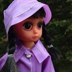 Black Haired Susie Sad Eyes Doll - Vintage
