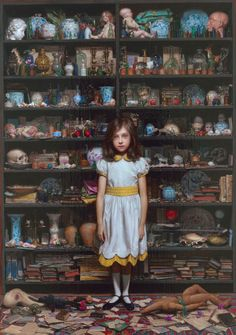 a series of Cabinet of curiosity themed artwork by Hiroshi Furuyoshi - details in multiple images to inspire miniature Cabinet of Curiosities Figure Painting, Painting & Drawing, Desenhos Tim Burton, Jenny Saville, Arte Obscura, Art Et Illustration, Pop Surrealism, Art Graphique, Surreal Art