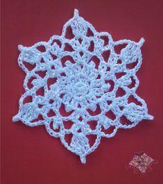 Crocheted Snowflake Motif By Carolyn Calderon - Free Crochet Pattern - (ravelry)