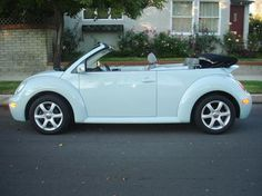 VW Beetle Convertible in Aquarius Blue a.k.a my dream car when I was a little girl