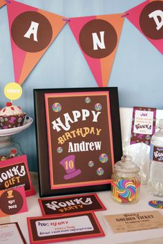 Willie Wonka birthday ideas