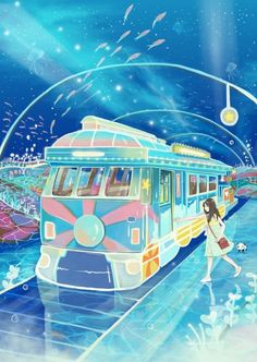 Master Anime Ecchi Picture Wallpapers Original Art Scene Artits Visual Perspective Motion Blur (http://epicwallcz.blogspot.com/) Power Lines Racing School Uniform Girls Anime Sky Cloud Train/Tren RailS Station (http://masterwallcz.blogspot.com/)