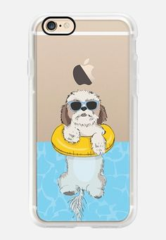 Casetify iPhone 7 Case and Other iPhone Covers -  Swimming Shih Tzu  by Megan Roy | #Casetify