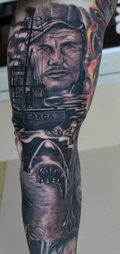 Jaws Tattoo Sleeve by Jake Smith
