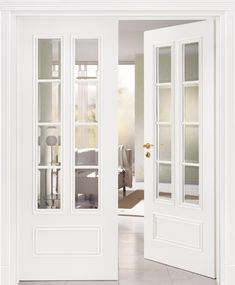 Interior French Doors With Glass Panels Internal Glazed Double Doors, Internal French Doors, Double Doors Interior, Interior Barn Doors, Glass Pantry Door, Pantry Doors, Sliding Wardrobe Doors, Sliding Door, Closet Doors