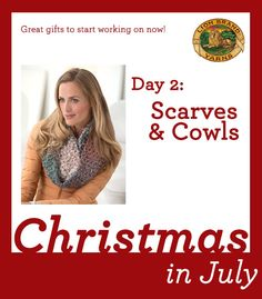 Christmas in July Day 2: 6 Knit and Crochet Scarves to Give!