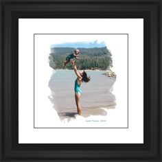 Brushed Moments Framed Print, Black, Classic, Black, White, Single piece, 12 x 12 inches, White
