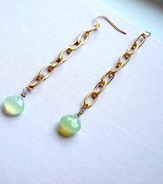 long mint green gemstone jewelry
